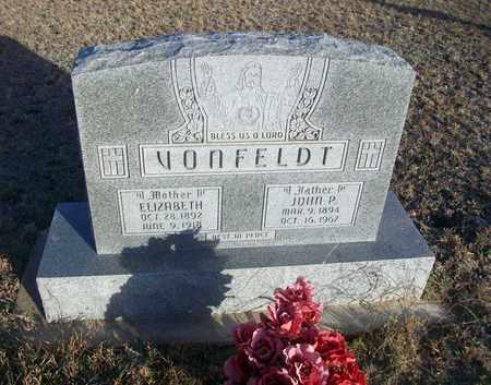VONFELDT, JOHN P - Ellis County, Kansas | JOHN P VONFELDT - Kansas Gravestone Photos