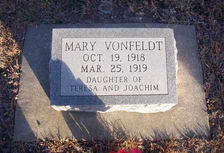 VONFELDT, MARY - Ellis County, Kansas | MARY VONFELDT - Kansas Gravestone Photos