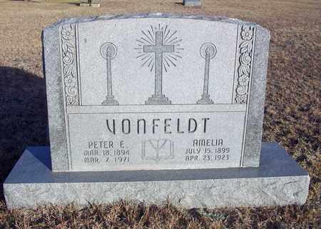 DREILING VONFELDT, AMELIA - Ellis County, Kansas | AMELIA DREILING VONFELDT - Kansas Gravestone Photos