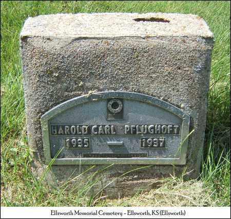 PFLUGHOFT, HAROLD CARL - Ellsworth County, Kansas   HAROLD CARL PFLUGHOFT - Kansas Gravestone Photos
