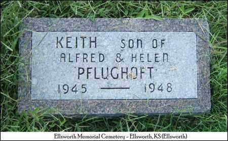 PFLUGHOFT, KEITH - Ellsworth County, Kansas   KEITH PFLUGHOFT - Kansas Gravestone Photos
