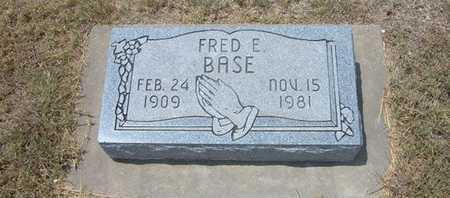 BASE, FRED E - Finney County, Kansas   FRED E BASE - Kansas Gravestone Photos