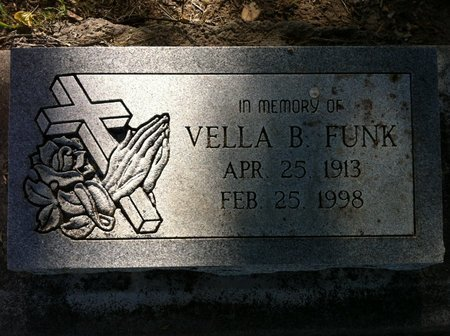 WHITE FUNK, VELLA B - Finney County, Kansas | VELLA B WHITE FUNK - Kansas Gravestone Photos