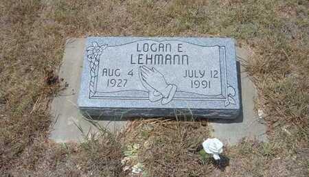 LEHMANN, LOGAN E - Finney County, Kansas | LOGAN E LEHMANN - Kansas Gravestone Photos