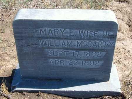MCCARTY, MARY L - Finney County, Kansas   MARY L MCCARTY - Kansas Gravestone Photos