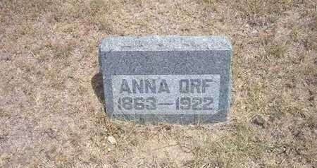 ORF, ANNA - Finney County, Kansas | ANNA ORF - Kansas Gravestone Photos