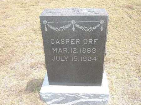 ORF, CASPER - Finney County, Kansas   CASPER ORF - Kansas Gravestone Photos