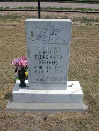 "PORRAS, PEDRO  ""PETE"" - Finney County, Kansas   PEDRO  ""PETE"" PORRAS - Kansas Gravestone Photos"