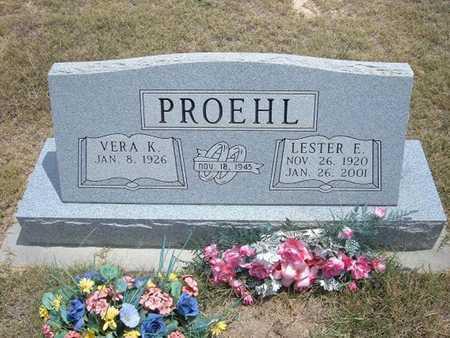 PROEHL, LESTER E - Finney County, Kansas   LESTER E PROEHL - Kansas Gravestone Photos