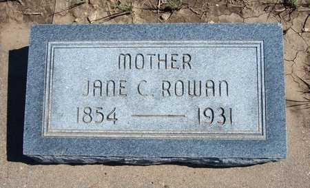ROWAN, JANE C - Finney County, Kansas | JANE C ROWAN - Kansas Gravestone Photos