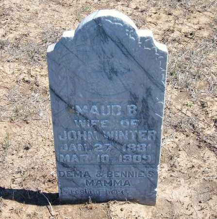 WINTER, MAUD B - Finney County, Kansas | MAUD B WINTER - Kansas Gravestone Photos