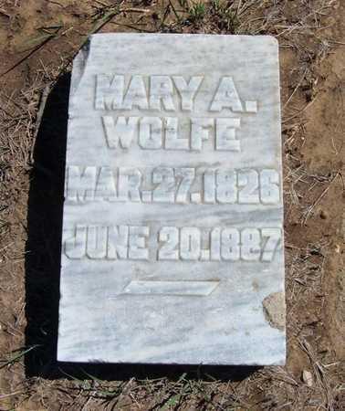 WOLFE, MARY A - Finney County, Kansas | MARY A WOLFE - Kansas Gravestone Photos