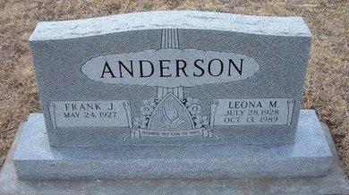 ANDERSON, LEONA M - Ford County, Kansas | LEONA M ANDERSON - Kansas Gravestone Photos