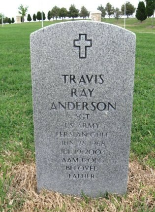 ANDERSON, TRAVIS RAY (VETERAN PGW) - Ford County, Kansas   TRAVIS RAY (VETERAN PGW) ANDERSON - Kansas Gravestone Photos