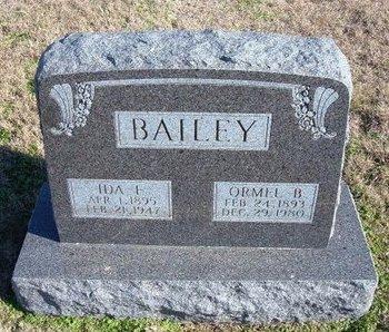 BAILEY, IDA F - Ford County, Kansas | IDA F BAILEY - Kansas Gravestone Photos