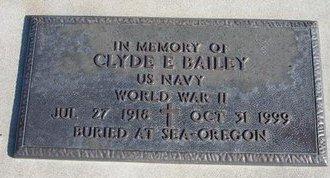 BAILEY, CLYDE E  (VETERAN WWII) - Ford County, Kansas | CLYDE E  (VETERAN WWII) BAILEY - Kansas Gravestone Photos