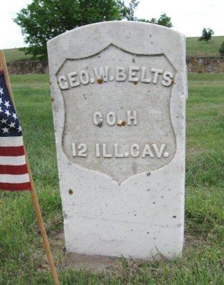 BELTS, GEORGE WILLIAM (VETERAN UNION) - Ford County, Kansas | GEORGE WILLIAM (VETERAN UNION) BELTS - Kansas Gravestone Photos