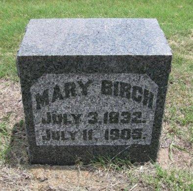 BIRCH, MARY - Ford County, Kansas   MARY BIRCH - Kansas Gravestone Photos