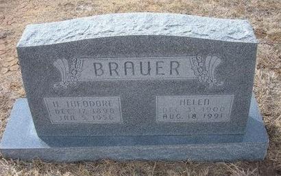 BRAUER, H THEODORE - Ford County, Kansas | H THEODORE BRAUER - Kansas Gravestone Photos