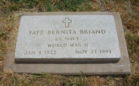 BRIAND, FAYE BERNITA (VETERAN WWII) - Ford County, Kansas   FAYE BERNITA (VETERAN WWII) BRIAND - Kansas Gravestone Photos