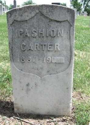 CARTER, PASHION - Ford County, Kansas   PASHION CARTER - Kansas Gravestone Photos