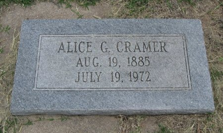CRAMER, ALICE GOLDIE - Ford County, Kansas   ALICE GOLDIE CRAMER - Kansas Gravestone Photos