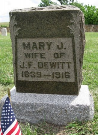 PADGEET DEWITT, MARY JANE - Ford County, Kansas   MARY JANE PADGEET DEWITT - Kansas Gravestone Photos