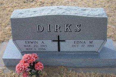 DIRKS, ERWIN A - Ford County, Kansas   ERWIN A DIRKS - Kansas Gravestone Photos