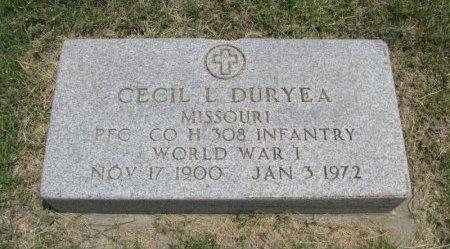 DURYEA, CECIL L (VETERAN WWI) - Ford County, Kansas | CECIL L (VETERAN WWI) DURYEA - Kansas Gravestone Photos