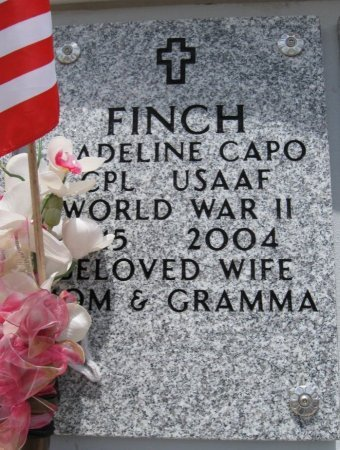 FINCH, MADELINE (VETERAN WWII) - Ford County, Kansas | MADELINE (VETERAN WWII) FINCH - Kansas Gravestone Photos
