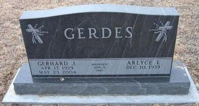 GERDES, GERHARD J - Ford County, Kansas   GERHARD J GERDES - Kansas Gravestone Photos