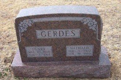 HERONEMUS GERDES, NATHALIE - Ford County, Kansas | NATHALIE HERONEMUS GERDES - Kansas Gravestone Photos