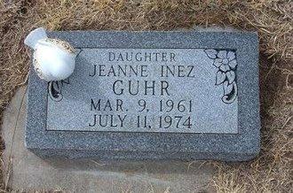 GUHR, JEANNE INEZ - Ford County, Kansas | JEANNE INEZ GUHR - Kansas Gravestone Photos