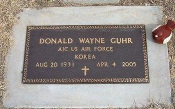 GUHR, DONALD WAYNE  (VETERAN KOR) - Ford County, Kansas | DONALD WAYNE  (VETERAN KOR) GUHR - Kansas Gravestone Photos