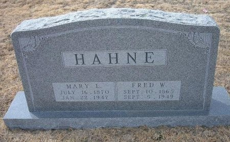 HAHNE, FRED W - Ford County, Kansas | FRED W HAHNE - Kansas Gravestone Photos