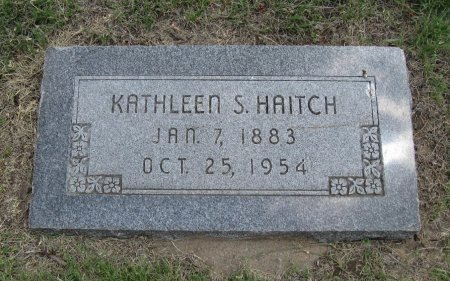 HAITCH, KATHLEEN S - Ford County, Kansas | KATHLEEN S HAITCH - Kansas Gravestone Photos