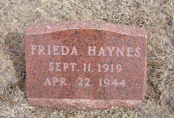 HAYNES, FRIEDA - Ford County, Kansas   FRIEDA HAYNES - Kansas Gravestone Photos