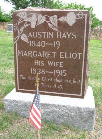ELIOT HAYS, MARGARET - Ford County, Kansas | MARGARET ELIOT HAYS - Kansas Gravestone Photos
