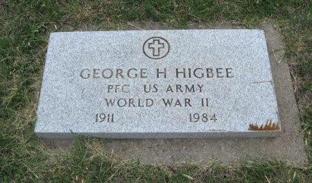 HIGBEE, GEORGE H (VETERAN WWII) - Ford County, Kansas | GEORGE H (VETERAN WWII) HIGBEE - Kansas Gravestone Photos