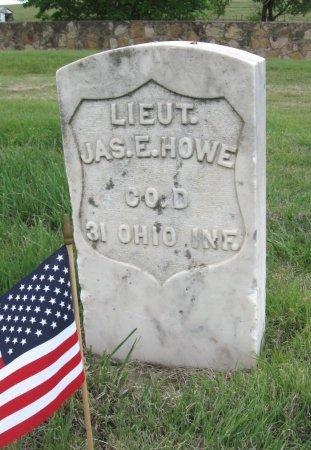 HOWE, JAMES E (VETERAN UNION) - Ford County, Kansas   JAMES E (VETERAN UNION) HOWE - Kansas Gravestone Photos