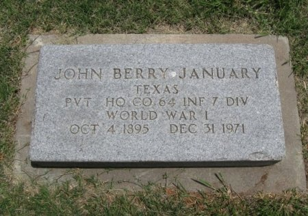 JANUARY, JOHN BERRY (VETERAN WWI) - Ford County, Kansas | JOHN BERRY (VETERAN WWI) JANUARY - Kansas Gravestone Photos