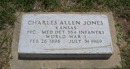 JONES, CHARLES ALLEN (VETERAN WWI) - Ford County, Kansas | CHARLES ALLEN (VETERAN WWI) JONES - Kansas Gravestone Photos