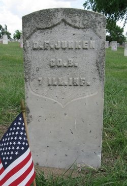 JUNKEN, DAVID FRANKLIN (VETERAN UNION) - Ford County, Kansas   DAVID FRANKLIN (VETERAN UNION) JUNKEN - Kansas Gravestone Photos