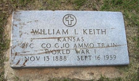 KEITH, WILLIAM LEWIS  (VETERAN WWI) - Ford County, Kansas   WILLIAM LEWIS  (VETERAN WWI) KEITH - Kansas Gravestone Photos