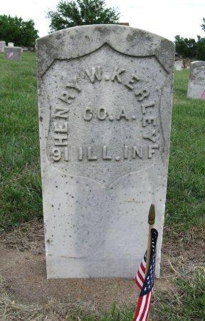 KERLEY, HENRY W (VETERAN UNION) - Ford County, Kansas   HENRY W (VETERAN UNION) KERLEY - Kansas Gravestone Photos
