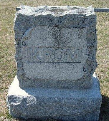 KROM, FAMILY STONE - Ford County, Kansas   FAMILY STONE KROM - Kansas Gravestone Photos