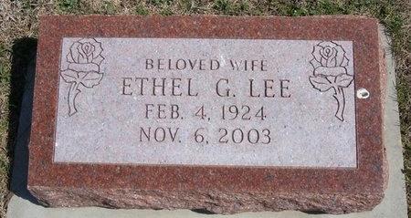 LEE, ETHEL G - Ford County, Kansas | ETHEL G LEE - Kansas Gravestone Photos