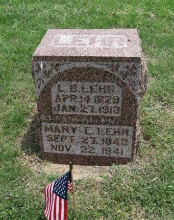 LEHR, LEVI B - Ford County, Kansas | LEVI B LEHR - Kansas Gravestone Photos
