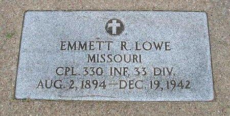 LOWE, EMMETT RHODES (VETERAN WWI) - Ford County, Kansas | EMMETT RHODES (VETERAN WWI) LOWE - Kansas Gravestone Photos