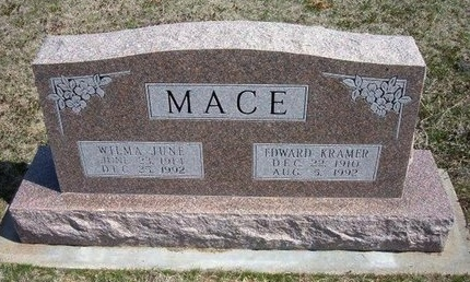 MACE, EDWARD KRAMER - Ford County, Kansas | EDWARD KRAMER MACE - Kansas Gravestone Photos
